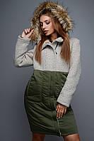 Зимнее пальто с низом из плащевки X-Woyz
