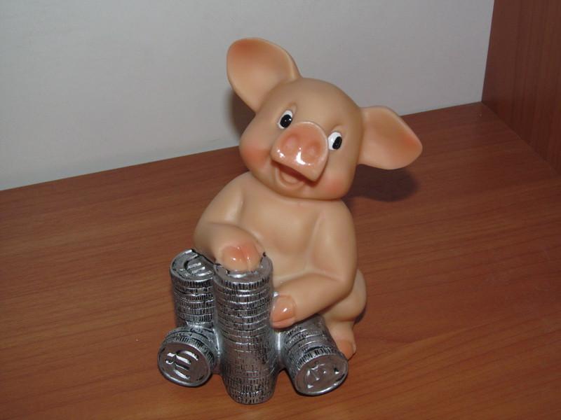 АКЦИЯ!!!  Копилка Свинка с монетками (ассортимент)