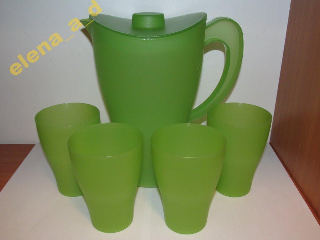 Подарочный набор: кувшин + 4 стакана
