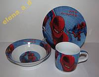 Акция! C398 Набор детской посуды Человек-паук
