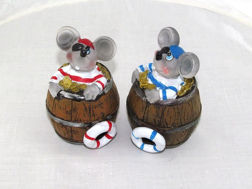 Копилка Мышь-пират в бочке