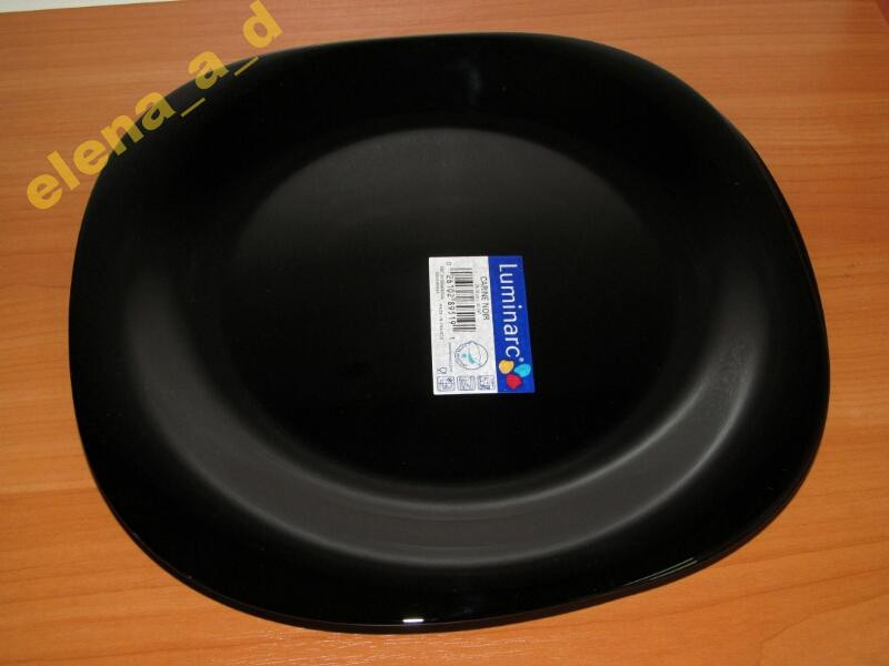 Тарелка обеденная Carine Black Luminarc