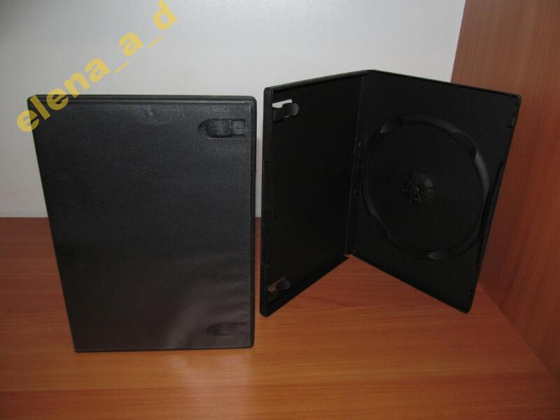 Бокс DVD чёрный 14 мм (1 диск)