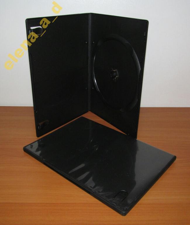 Бокс DVD чёрный 7 мм (1 диск)