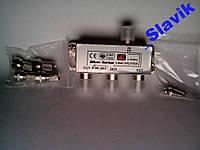 Сплитер,разветвитель антенный на 3 ТВ + 4 F-ки VIP