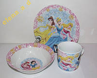 Акция! C418 Набор детской посуды Принцессы