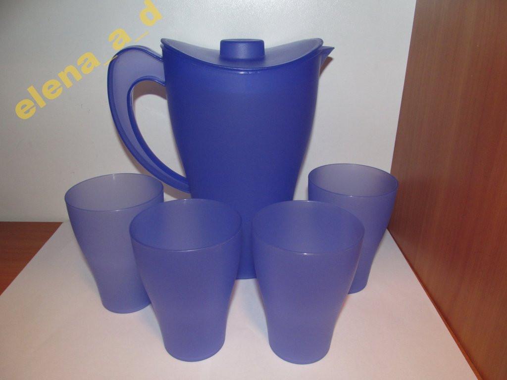 Набор подарочный: кувшин + 4 стакана