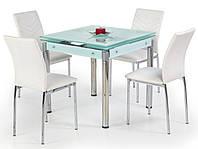 Белый раздвижной стол Halmar Kent на стальных хромированных ножках