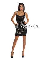 Клубное платье с пайетками черный