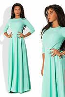 Платье в пол с плиссированной юбкой