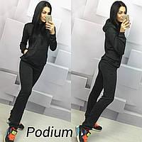 Женский теплый модный костюм: кофта-кенгуру и брюки (3 цвета)