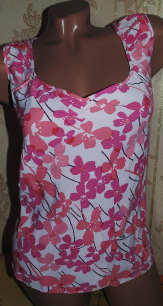 Милая нарядная майка-блуза 48-50р,сост отличное
