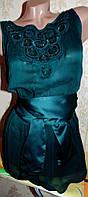 Нарядная шифоновая блуза-майка с баской 50-52р