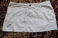 Супермодная джинсовая рваная юбка Denim 46-48р