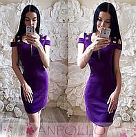Платье мини с декольте АН 91990