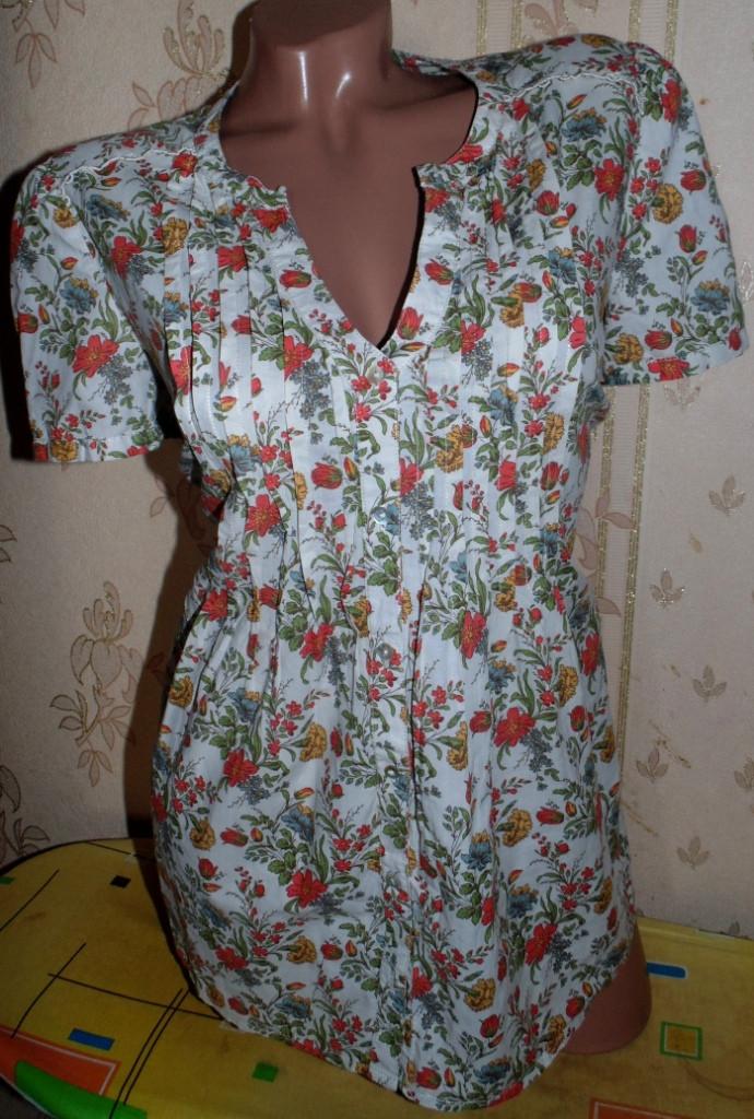 Блуза-рубашка из натуральной ткани МоnSoon 46р