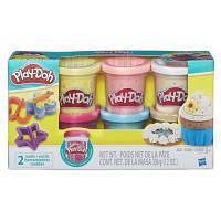 Набор пластилина из 6 баночек с конфетти Play-Doh