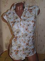 Бомбезная рубашка с модным принтом 44-46р