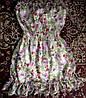 Шифоновое платье с цветочным принтом 44-48р,сос.от