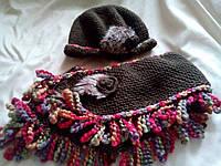 Шапка + шарф новые