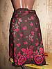Яркая хлопковая юбка с поясом 46-50р