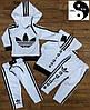 Спортивные костюмы 86-128рр., цвет:черный и белый