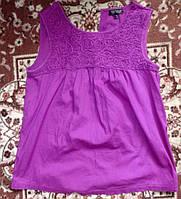 Нарядная хлопковая майка-блуза 46рможно беременным