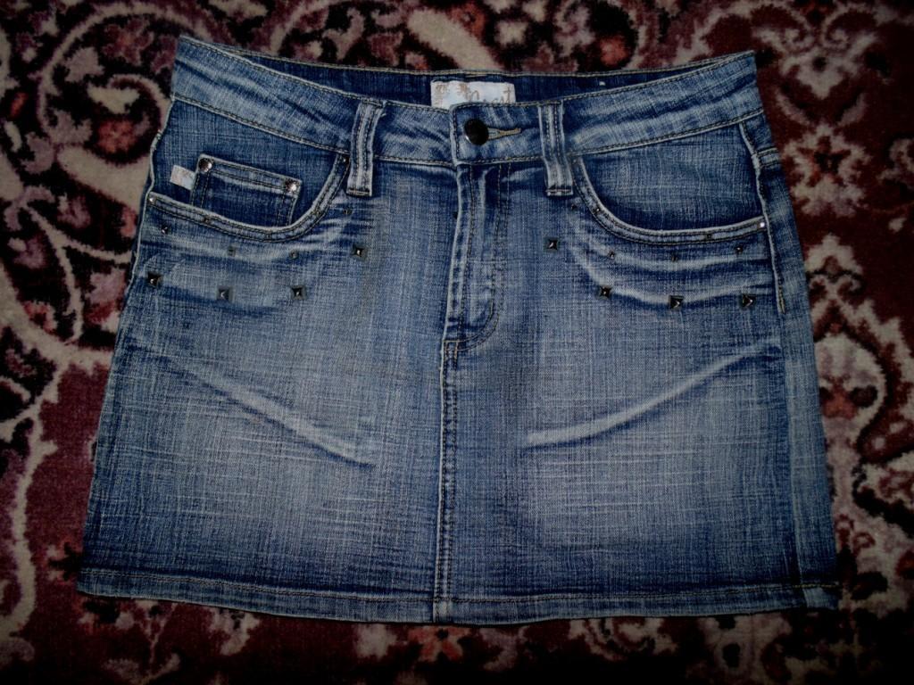Джинсовая юбка с шипами Crest 42-44р