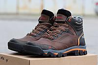 Кожаные зимние мужские ботинки Merrell коричневые