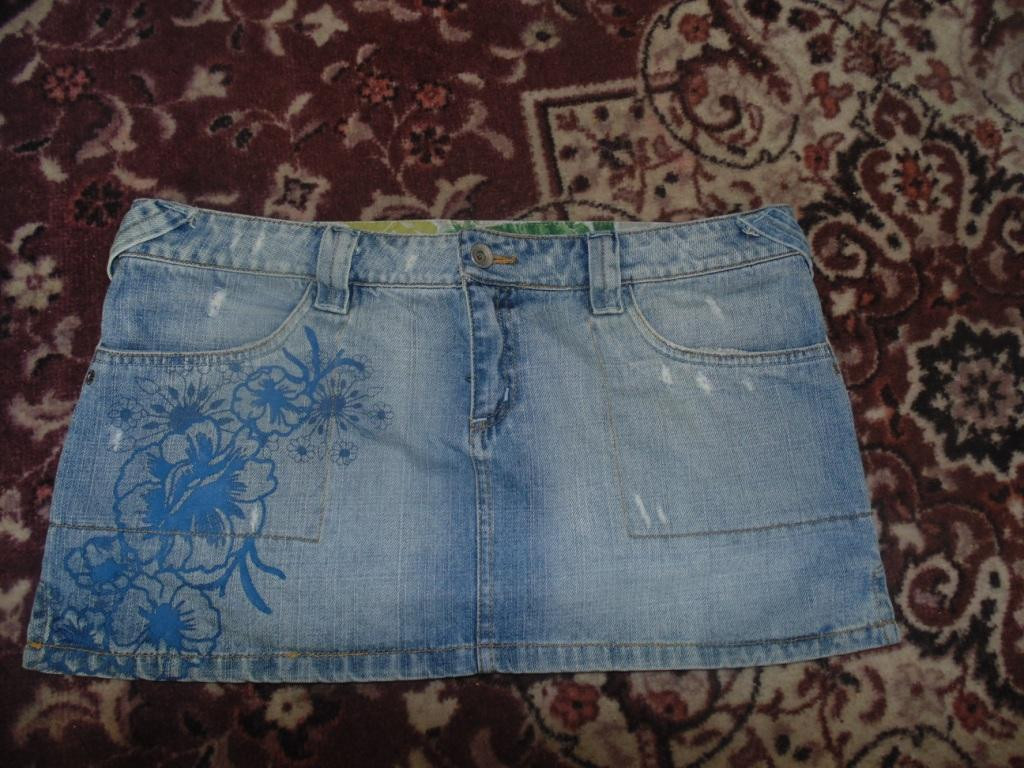 Фирменная джинсовая юбка 44-46р