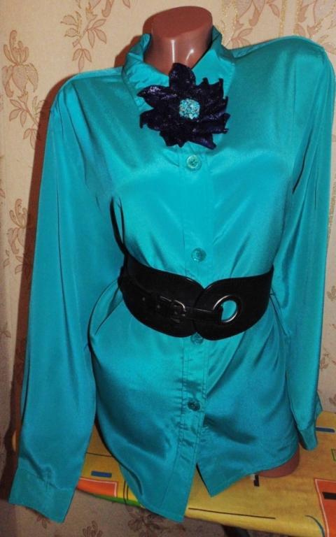 Модная бомбезная блуза 48р+подарок!