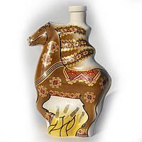 """Графин Лошадь """"Нарядная"""", коричневая,  украинский сувенир, фарфор"""