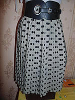Модная шифоновая  юбка-плиссе в горошек 40-44р