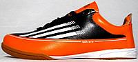 Бампы Adidas Adizero черно-оранжевые (Кожа) 40-45р
