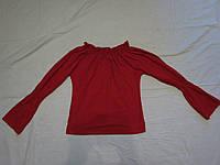 Кофта красная женская трикотаж Хлопок 100%