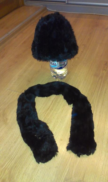 Комплект шарф и шапка из кролика! Натуральный мех