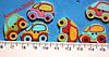 Пуговицы деревянные (Автомобили) - 5 шт.