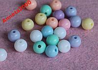 Бусины пастельные круглые - 50 шт.