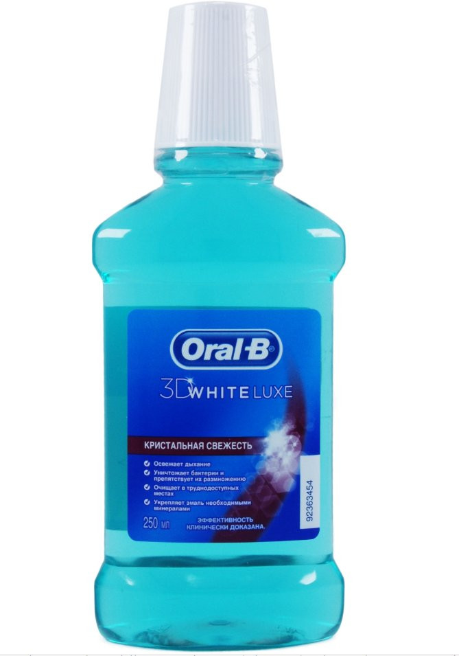 Ополаскиватель для полости рта Oral-B 3D White Lux