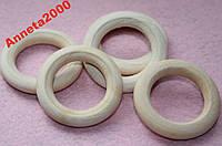 Кольца (Бусины) деревянные - 10 шт