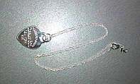 Набор Цепочка + Кулон сердце серебро 925 проба