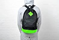 Рюкзак Nike найк черный зеленое дно
