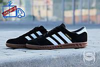 Кроссовки мужские Adidas Hamburg черные (Адидас Гамбург) реплика