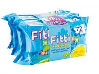 Детские влажные салфетки Fitti Classic-72 *3шт