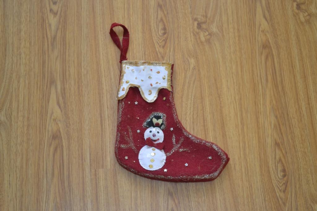 Новогодний ботинок для подарков