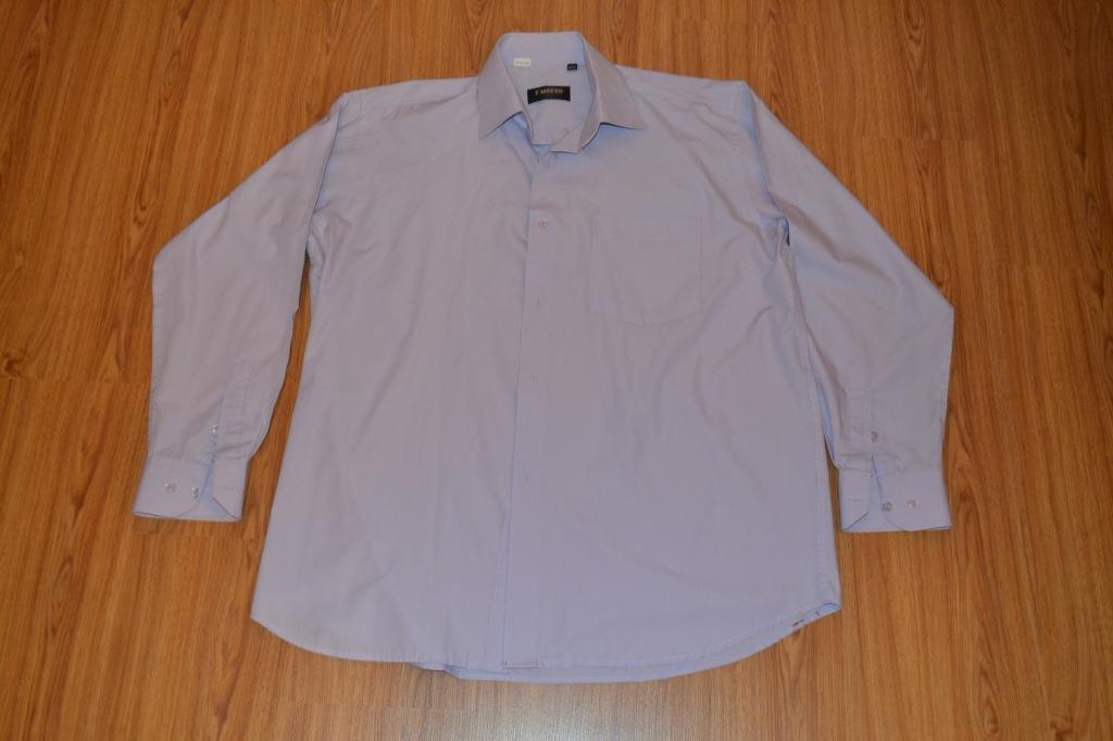 Світло фіолетова чоловіча сорочка з довгим рукавом