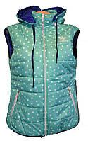 Жилетка женская с капюшоном звезды Adidas полу батал