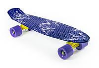"""Пенни Борд """"Молния"""" 22″ Фиолетовые Колеса / пенниборд скейт (penny board), скейтборд"""