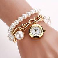 Женские наручные часы на цепочке с подвеской Pearl. Хорошее качество. Оригинальный дизайн. Купить. Код: КДН761