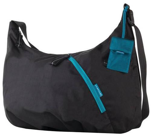 """Женская стильная сумка для ноутбука 16"""" Crumpler Doozie Hobo M (black/turquoise) DZH-M-004 черный"""